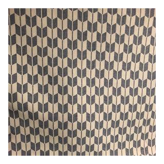 Cream & Blue Designer Fabric - 1.5 Yards