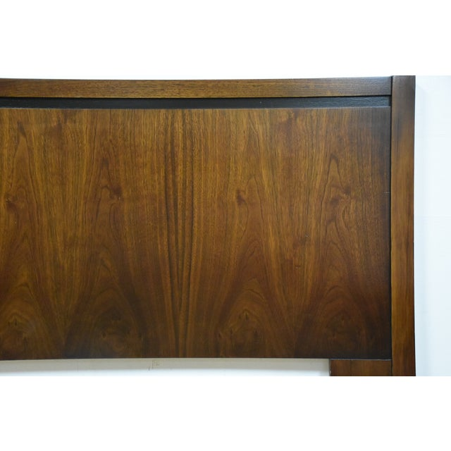 Mid-Century Modern Queen Size Walnut Headboard - Image 5 of 7