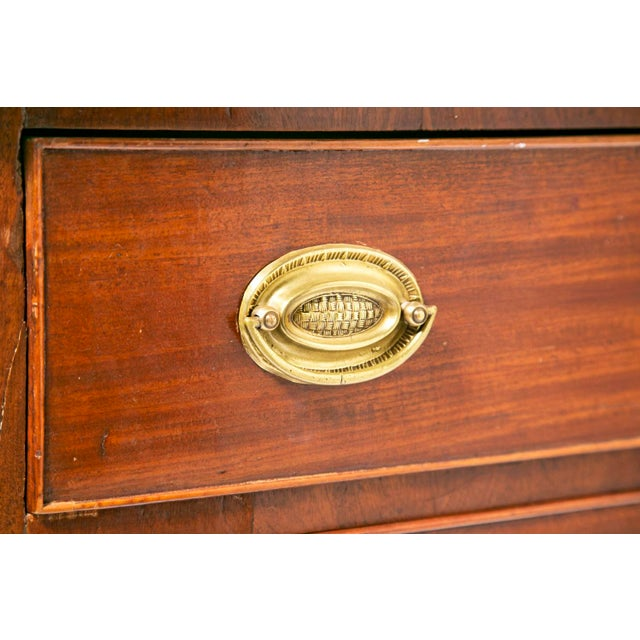 Early 19th Century 19th Century Mahogany Federal Style Bow Front Chest of Drawers For Sale - Image 5 of 6