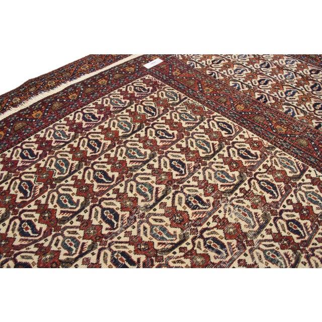 Antique Persian Afshar Rug - 05'01 X 06'03 For Sale In Dallas - Image 6 of 9