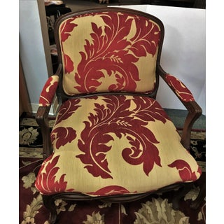 Sherrill Furniture Cherry Framed Accent Chairs- a Pair Preview