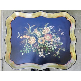 1960s English Traditional Floral Tray Table Preview