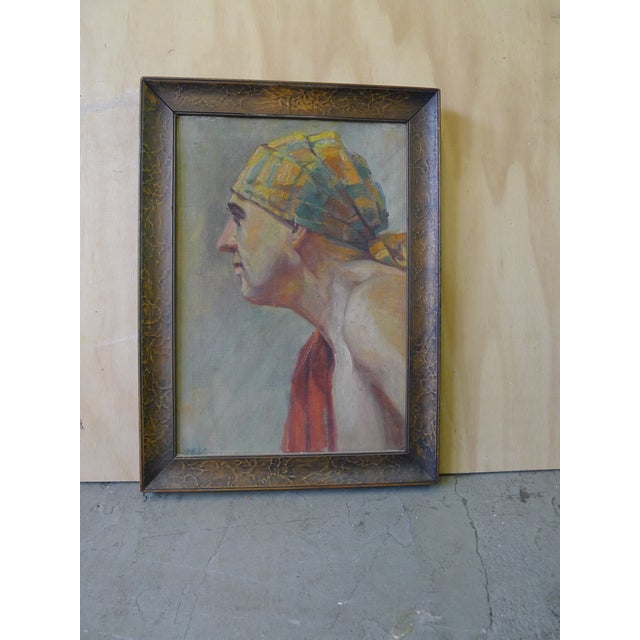 Figurative Early 20th Century Antique Portrait Painting For Sale - Image 3 of 10