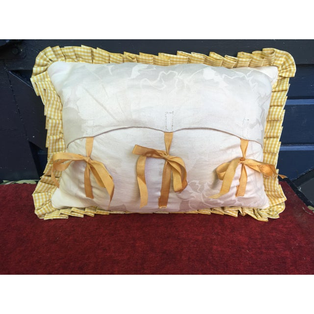 """Antique Toile """"The Chastity of Joseph"""" Pillow For Sale - Image 4 of 6"""