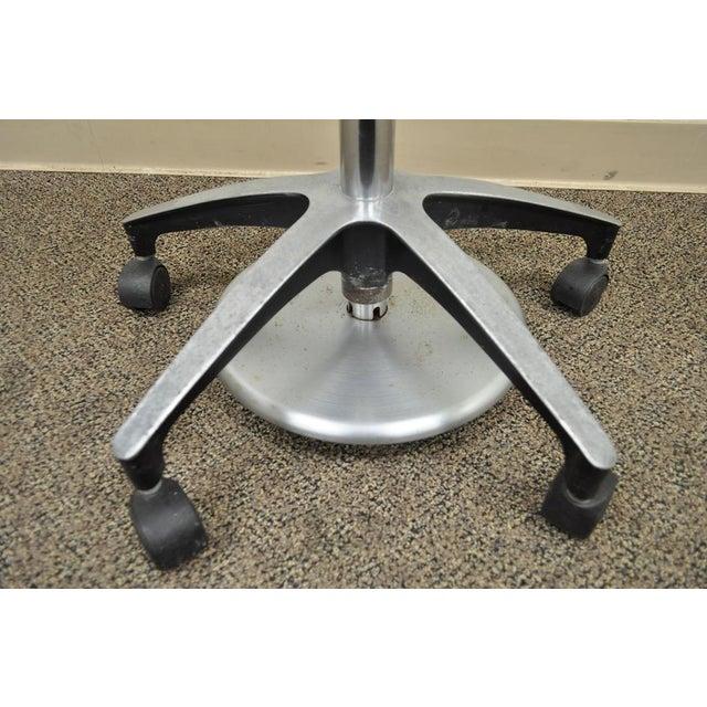 Vintage Mid Century Industrial Modern Adjustable Dental Dentist Chair Stool Seat For Sale In Philadelphia - Image 6 of 11