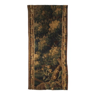Antique Aubusson Verdure Tapestry Fragment For Sale
