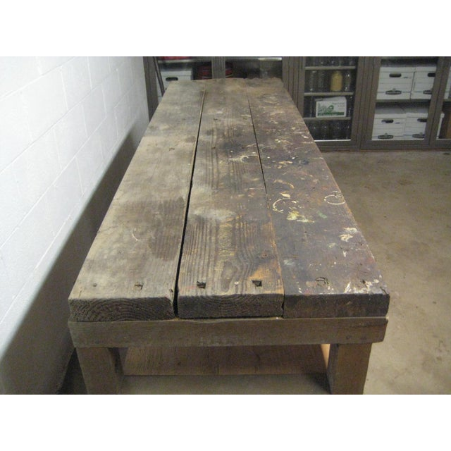 1900s Industrial Railroad Work Bench For Sale - Image 12 of 13