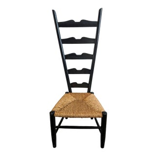 Original Gio Ponti Fireside Ladderback Chair For Sale