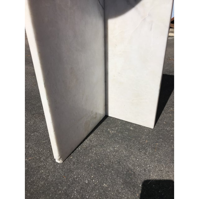 1970s 1970's Vintage Solid Marble Side Table For Sale - Image 5 of 12