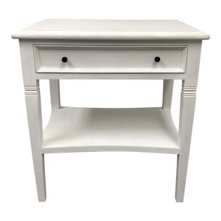 Noir White Washed Oxford 1- Drawer Side Table For Sale
