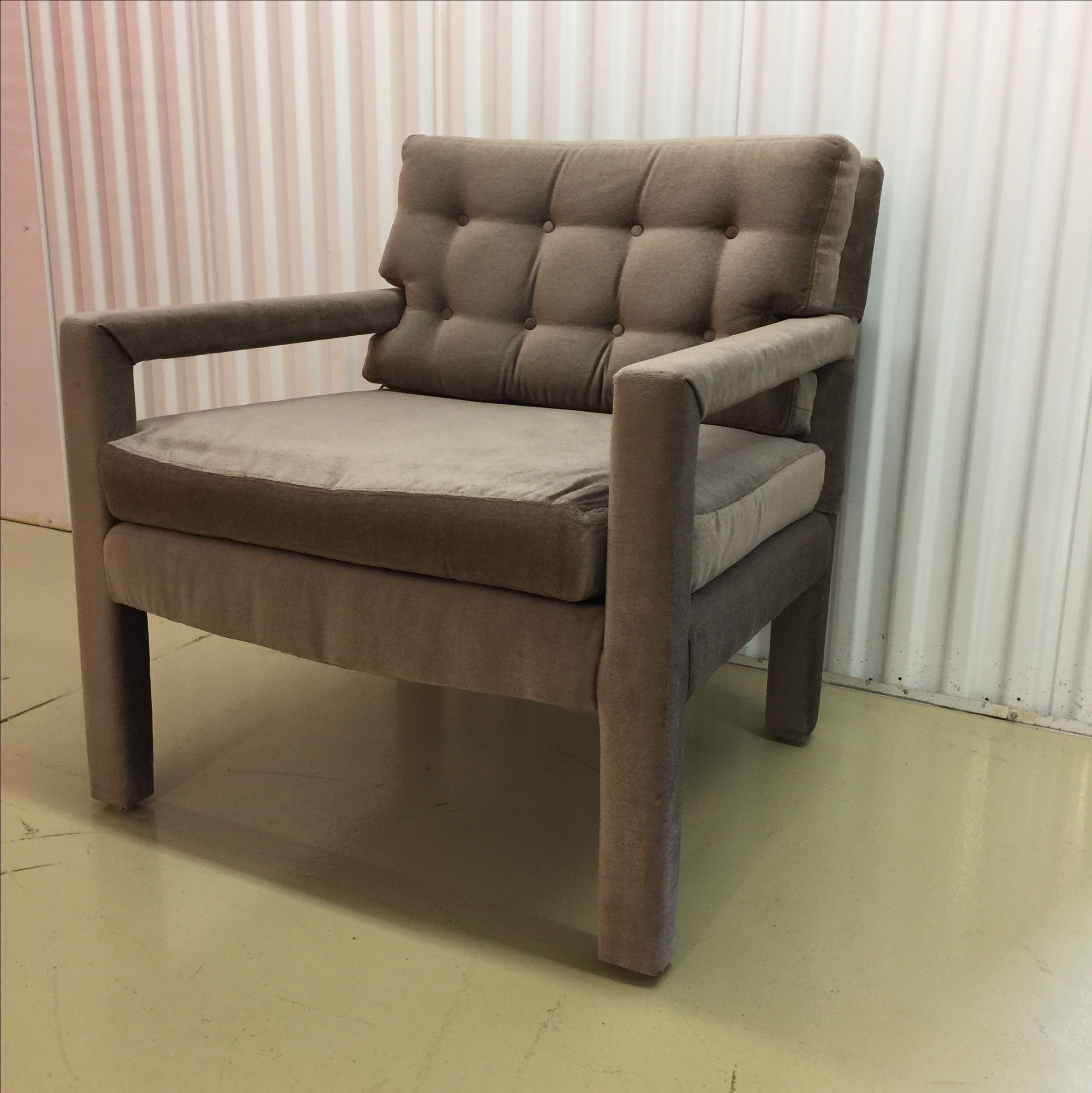 Milo Baughman Style Parsons Lounge Chair   Image 7 Of 9