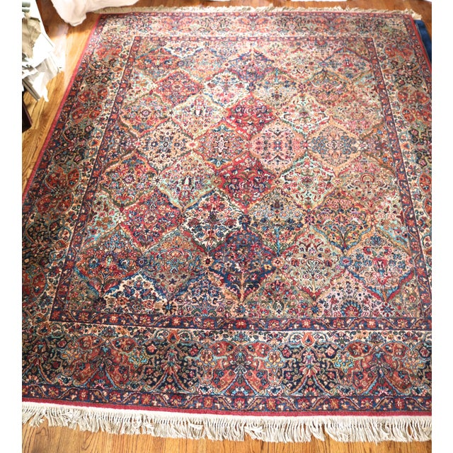 Asian Karastan Kirman Multicolor Rug - 8′7″ × 10′8″ For Sale - Image 3 of 9