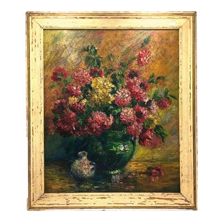Early 1900s Colorful Impasto Still Life Oil Painting For Sale