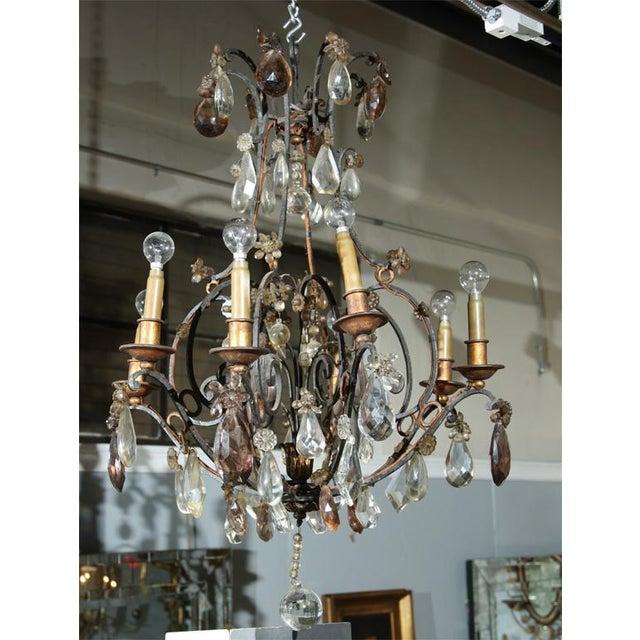 Jansen Bronze and Crystal Chandelier - Image 3 of 6