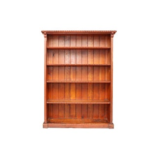 Antique Dutch Craftsman Pine Bookcase For Sale