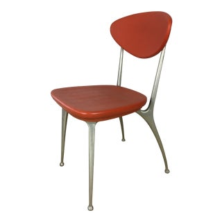 1950s Mid-Century Modern Shelby Williams Orange Dining Chair For Sale
