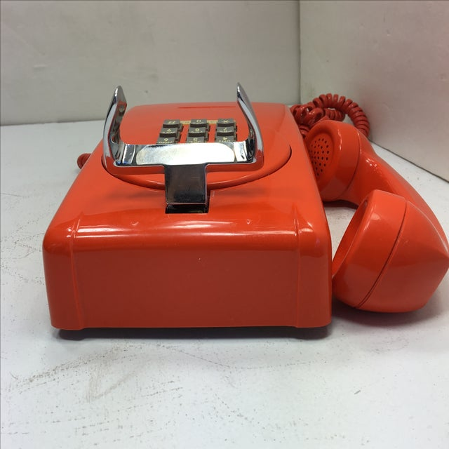 Bright Orange Push Button Wall Phone For Sale In San Francisco - Image 6 of 11