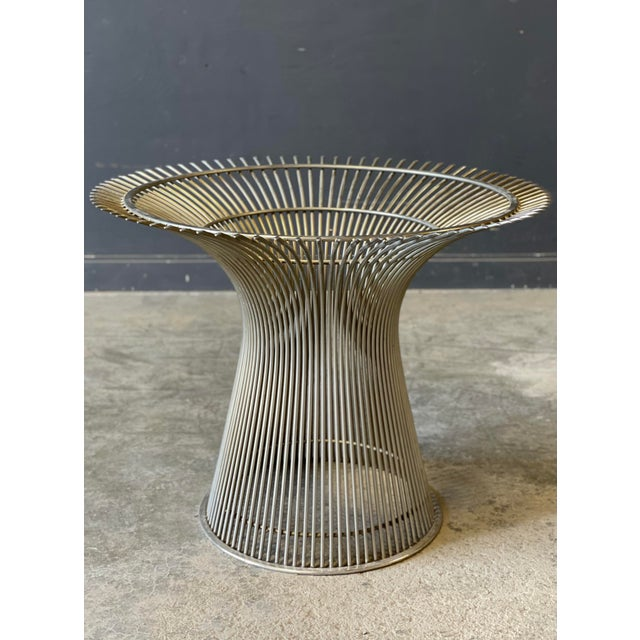 Chrome and Marble Round Table Designed by Warren Platner for Knoll. For Sale - Image 10 of 13