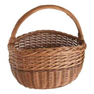 Woven Handled Basket For Sale