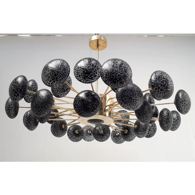 Not Yet Made - Made To Order Crackled Globes Chandelier by Fabio Ltd For Sale - Image 5 of 12