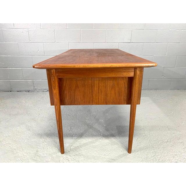 1930s Danish Modern Teak Desk Attributed to Kai Kristensen For Sale - Image 5 of 10
