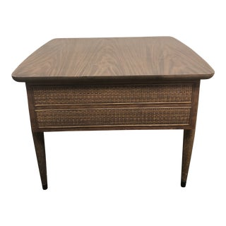 Mid Century Modern Single Drawer Side Table by American of Martinsville For Sale