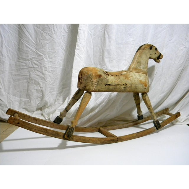 Late 19th Century Antique Primitive Rocking Horse For Sale - Image 5 of 6