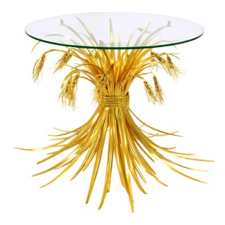 Rye Side Table in Gilded Bronze - Robert Goossens - 1970's For Sale