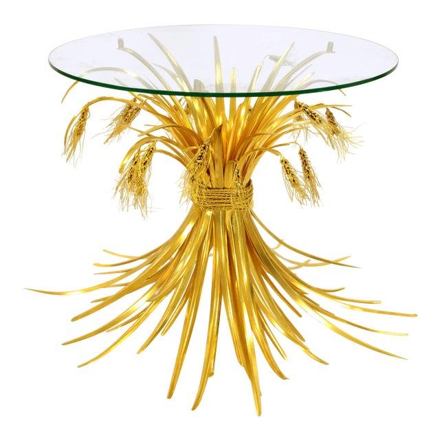 Rye Side Table in Gilded Bronze - Robert Goossens - 1970's For Sale