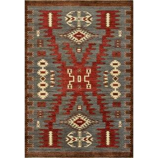 Navajo Design Ziegler Rug - 5'11'' X 8'7'' For Sale