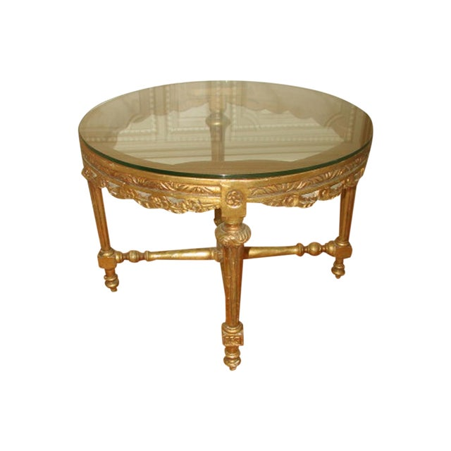 French 19th C. Hand Carved Gilt Coffee Table - Image 1 of 10