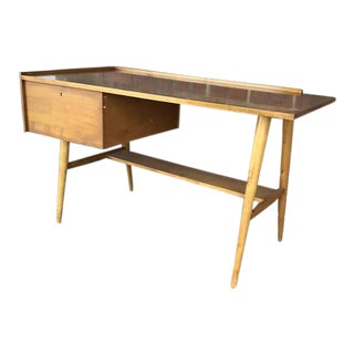 1960s Mid-Century Modern Edmond Spence Wood Desk