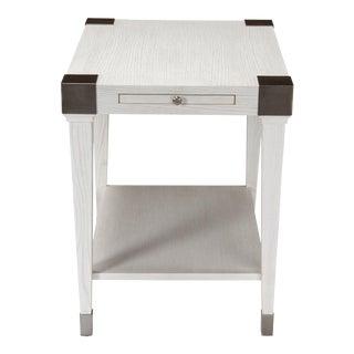 Sarreid Quatrain Side Table, Working White For Sale
