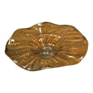 Art Deco Art Glass Platter For Sale
