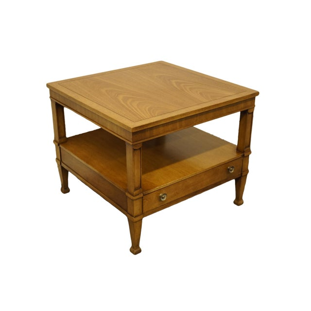 "Drexel Heritage Triune Collection Mahogany 26"" Square End Table For Sale - Image 13 of 13"