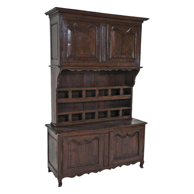 French Late 19th Century Large French Three Part Oak Cabinet For Sale - Image 3 of 8