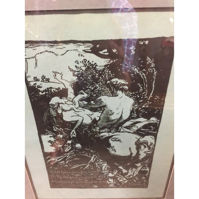 Contemporary Auguste Lepere Woodcut Le Trophee Circa 1900 For Sale - Image 3 of 5
