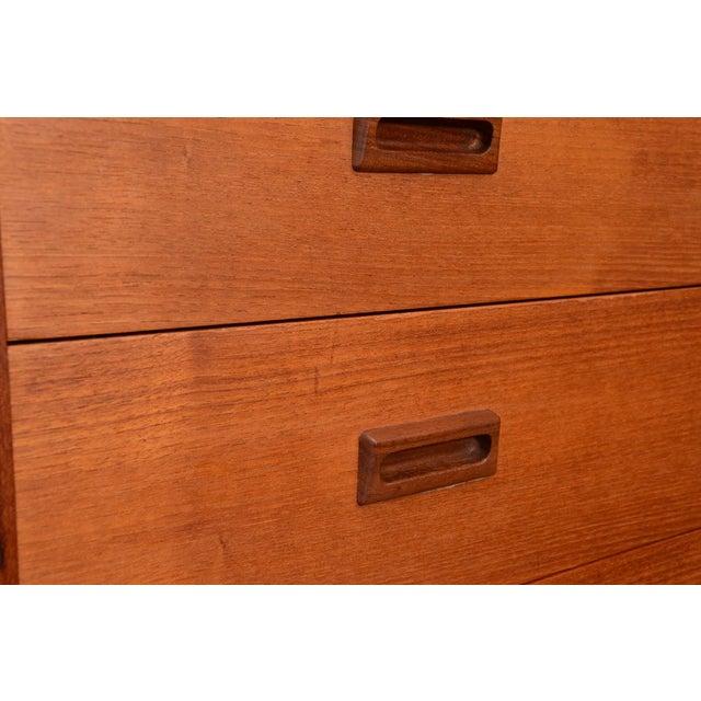 Danish Teak Seven Drawer Highboy Dresser - Image 5 of 7