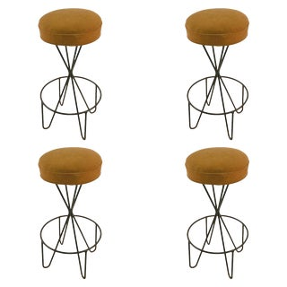Set of Four Swivel Stools by Paul Tuttle For Sale