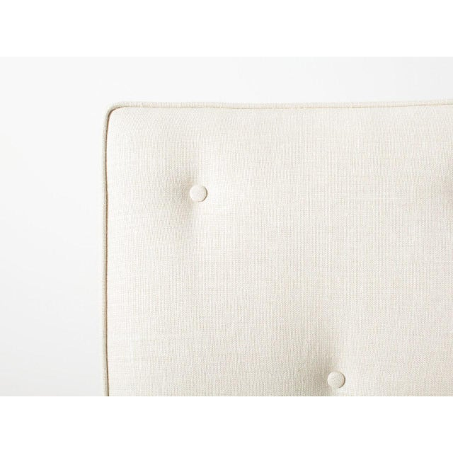 Claeys White Upholstered Chair For Sale - Image 4 of 6