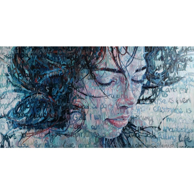 """2010s """"Immersed"""" Oil Painting on Canvas by Christina Major For Sale - Image 5 of 6"""