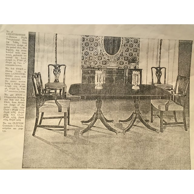 1920 S Vintage Beacon Hill Duncan Phyfe Double Pedestal Mahogany
