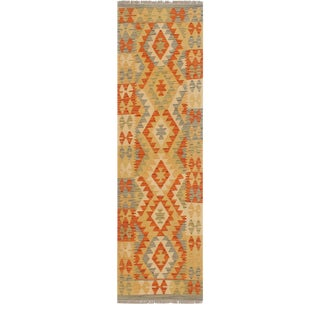 1990s Rustic Bohemian Kilim Gertie Rust Beige Hand Woven Rug For Sale