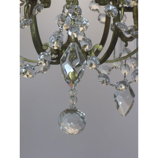 Early 19th Century French Bronze and Crystal Chandelier For Sale - Image 5 of 9