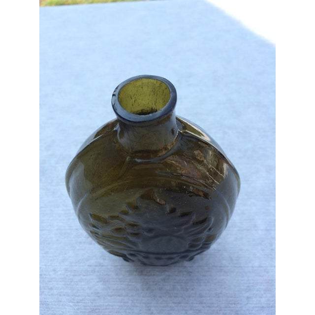 Green Glass Flask - Image 6 of 7