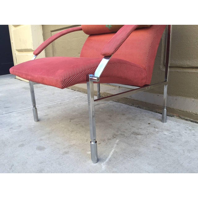 1970s Pair of Saporiti Lounge Chairs For Sale - Image 5 of 6