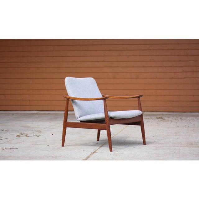 1950s Mid-Century Modern Finn Juhl Model Fd 138 Lounge Chair For Sale - Image 12 of 12
