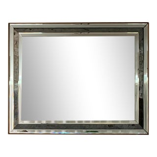Friedman Brothers Rectangular Eglomise Multi Paneled Mirror For Sale