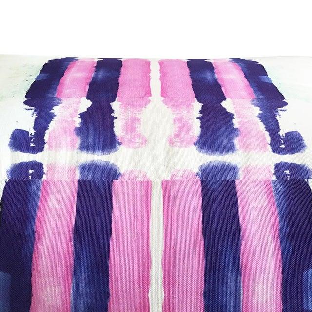 Abstract Kristi Kohut Sailor Stripes Pouf For Sale - Image 3 of 5