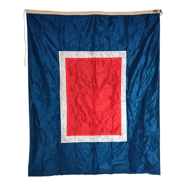 "Vintage ""W"" Nautical Flag For Sale"